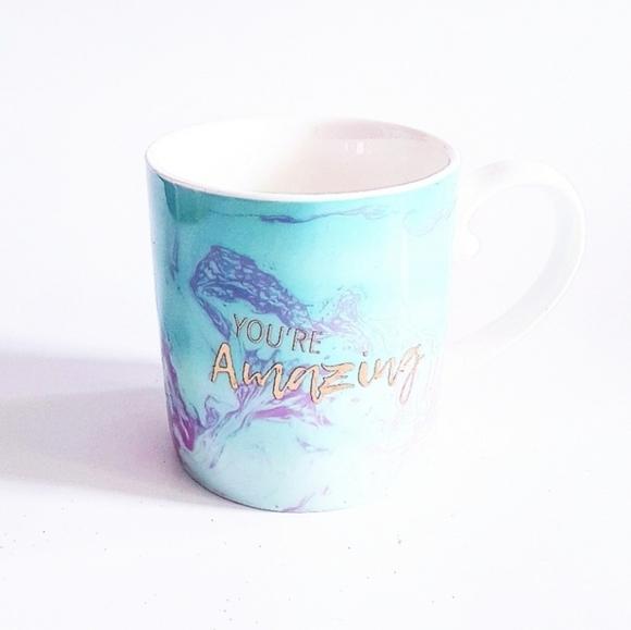 COCO & LOLA Blue & Gold Inspirational Mug